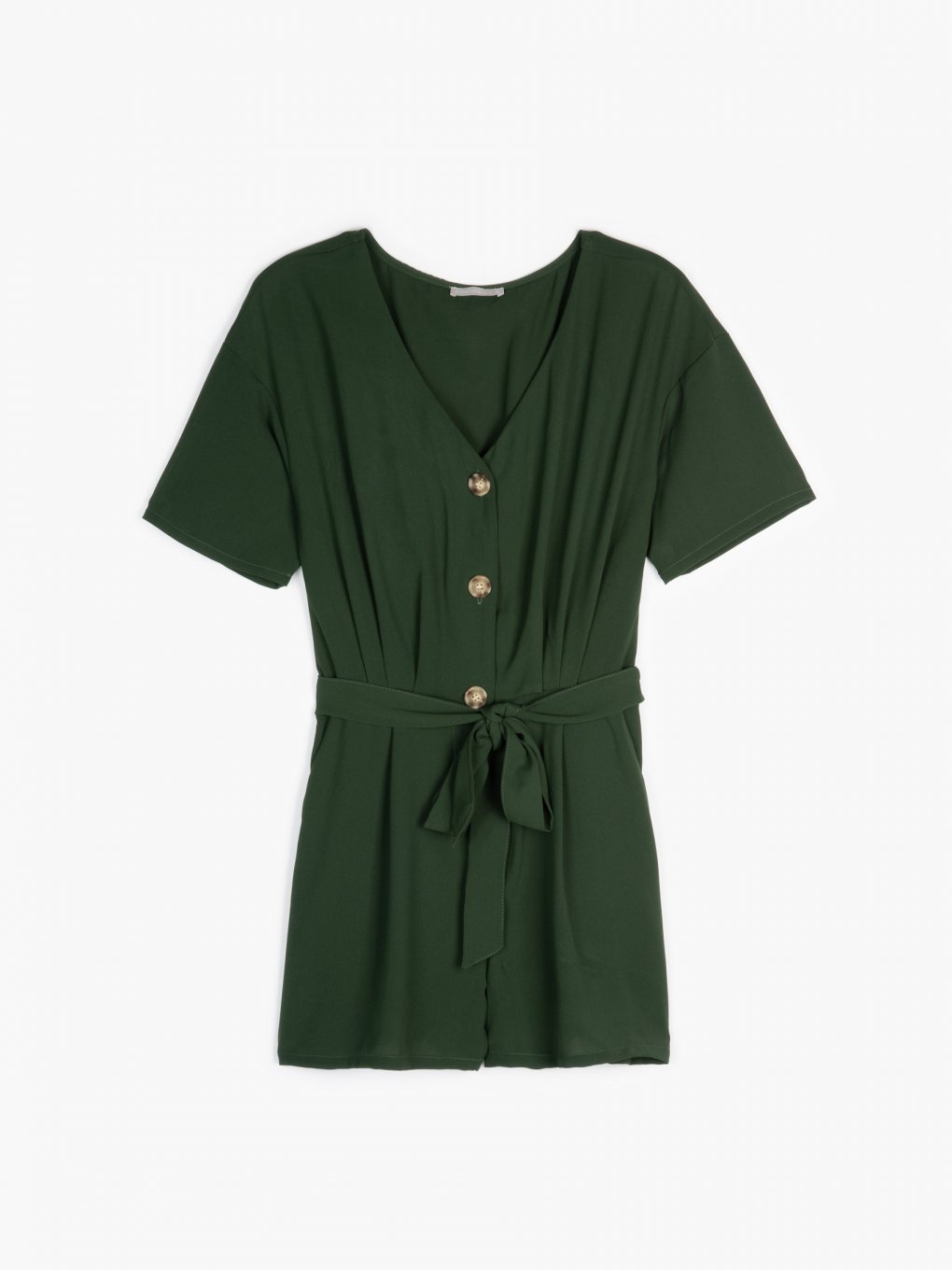 Button-down short jumpsuit
