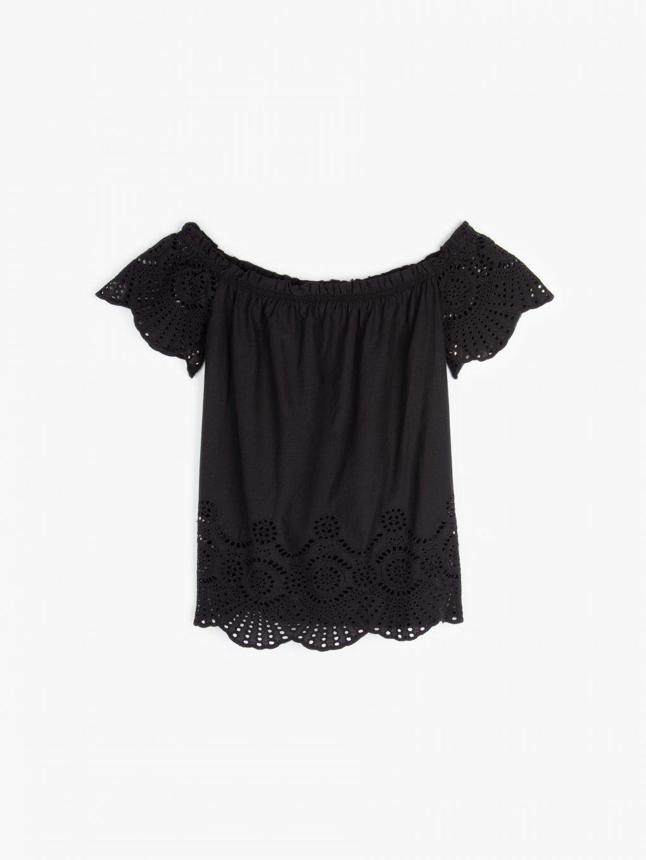 Off shoulder cotton top