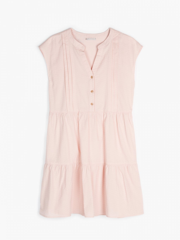 Proužkované bavlněné šaty