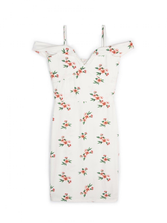 Flower print bodycon dress