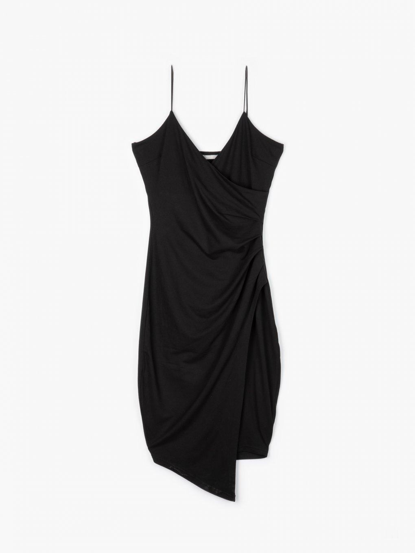 Obtažené šaty na ramínka