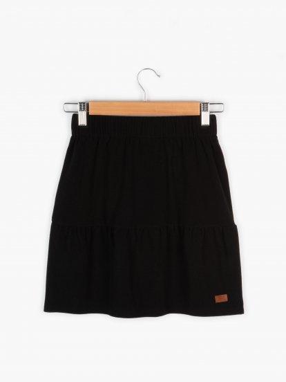 Skirt with ruffle