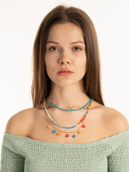 Set 3. korálkových náhrdelníků