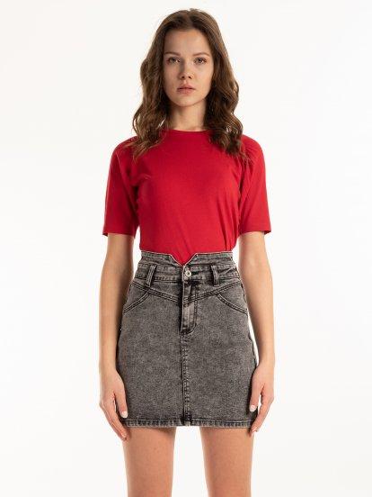 Basic cotton raglan top