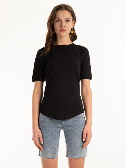 Základné bavlnené tričko raglanového strihu