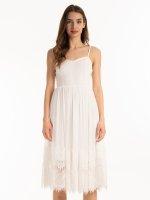 Sukienka łączona na ramiączkach