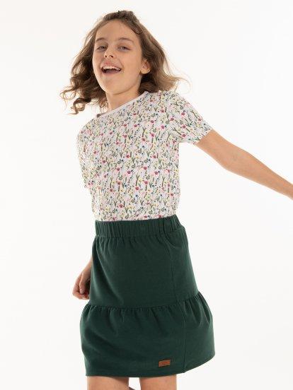 Tričko s kvetovanou potlačou