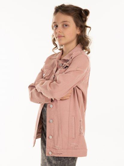Damaged denim jacket