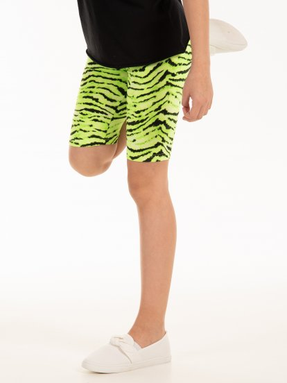 Animal print cycling shorts