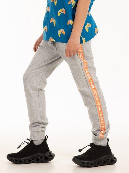 Spodnie dresowe z napisem