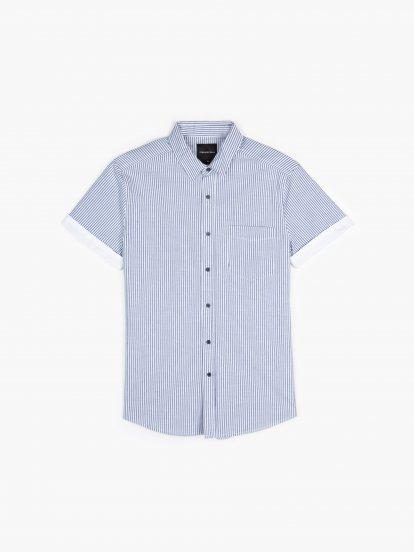 Pásikavá košeľa slim