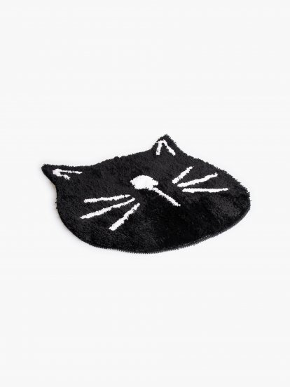 Cat shaped bath mat