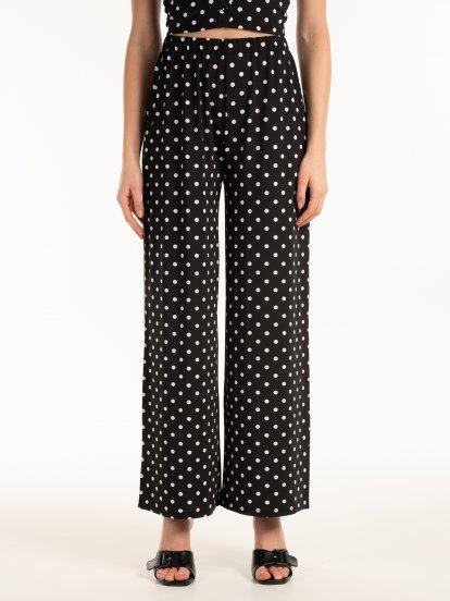 Široké bodkované nohavice