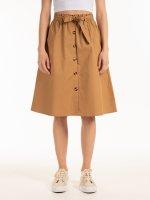 Cotton button-down skirt