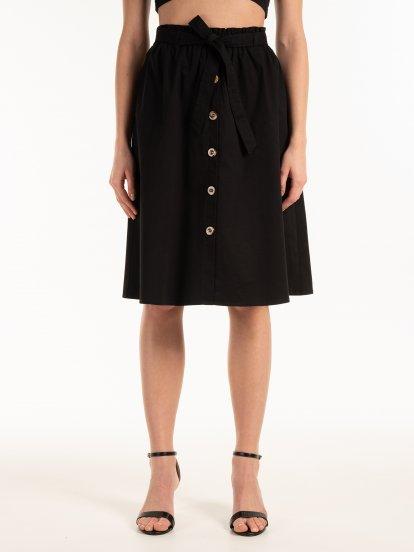 Bavlněná sukně se zapínáním na knoflíky