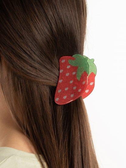 Spona do vlasů jahoda