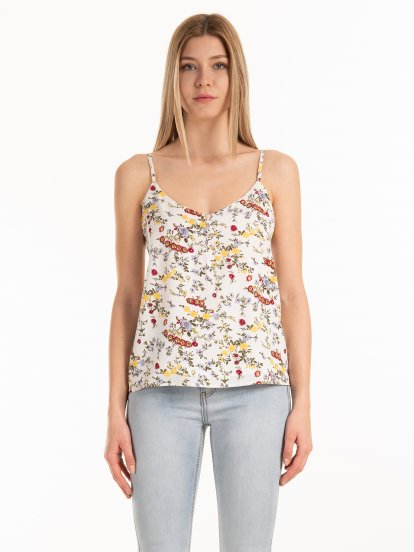 Strappy floral top