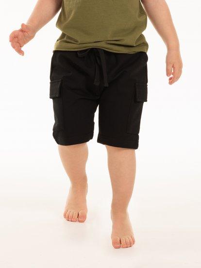 Kapsáčové teplákové šortky
