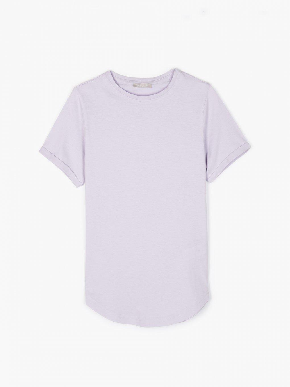 Basic cotton t-shirt with scoop hem