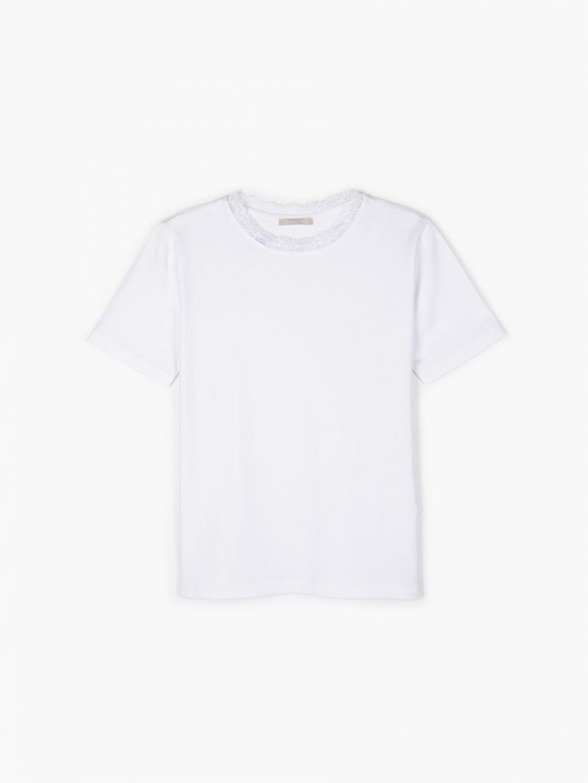 Základné tričko s čipkou