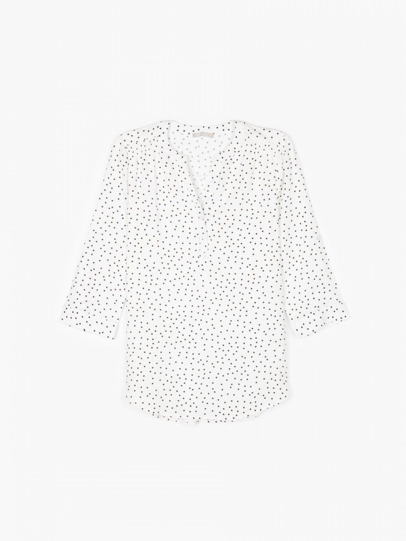 Polka dot viscose blouse