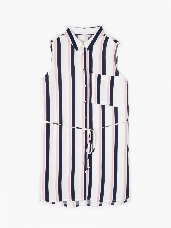 Longline striped top