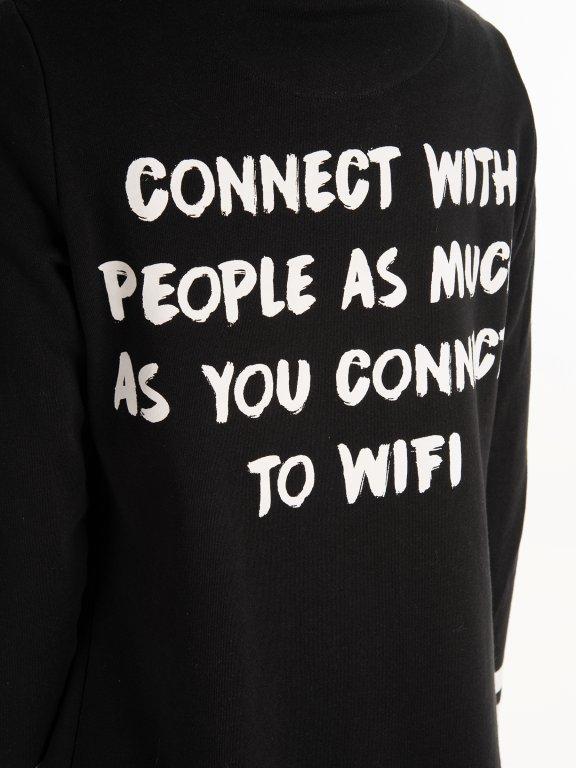 Długa bluza z nadrukiem