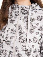 Mikina s květovaným potiskem