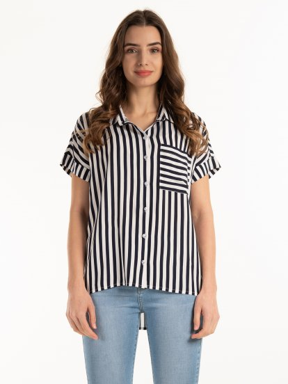 Striped loose fit blouse