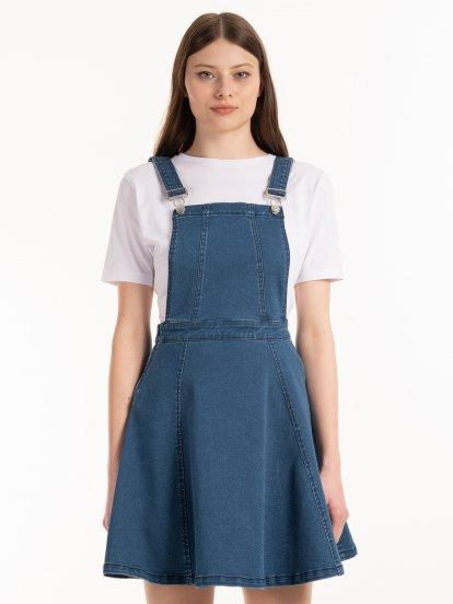 Denimová sukně na šle