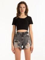 Základní krátké elastické tričko