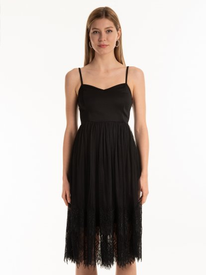 Combined strapp dress