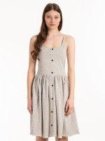 Bodkované džersejové šaty na ramienka