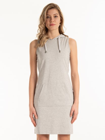 Sleeveless sweatshirt dress