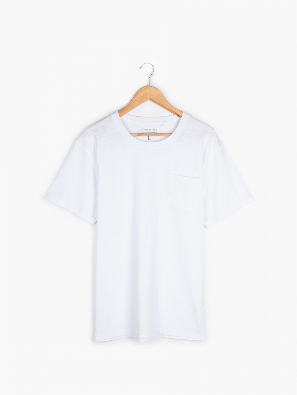 Koszulka basic z kieszenią na piersi