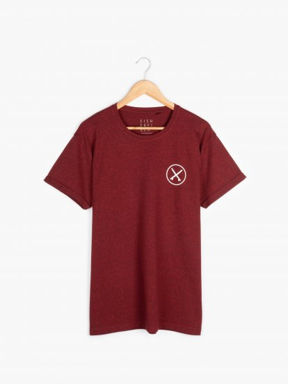 Melírované tričko s potiskem