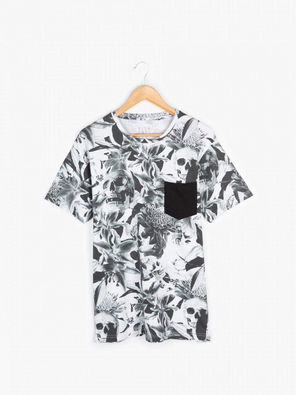 Printed t-shirt with chest pocket
