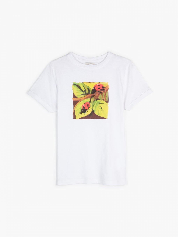 Bavlnené tričko s nášivkou