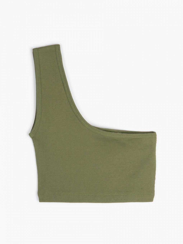 Ribbed off shoulder top