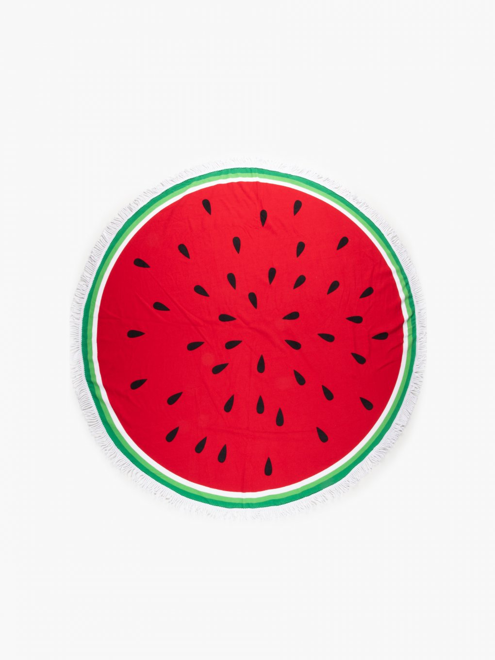 Round beach towel with watermelon print