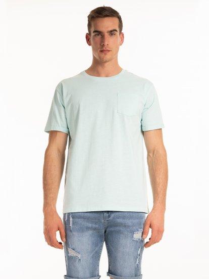 Základní tričko s náprsní kapsou