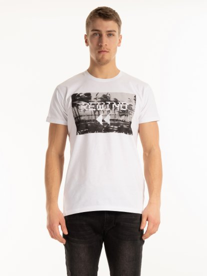 Cotton t-shirt with print