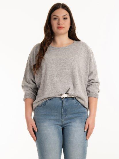 Melírovaný pulóver