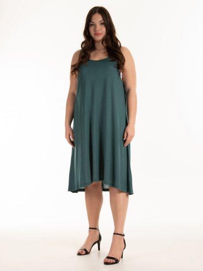Základní viskózové tílkové šaty