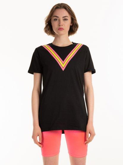 Dlouhé tričko s potiskem