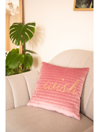 Pillow with embro