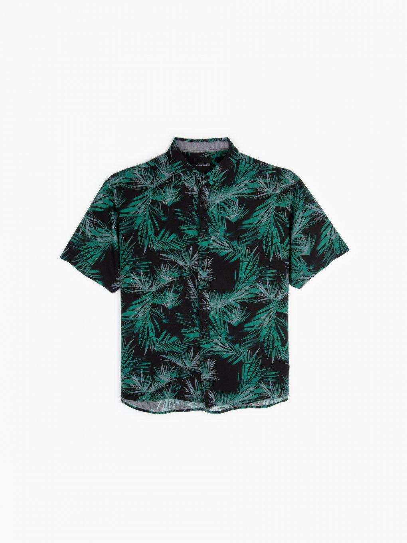 Printed viscose shirt