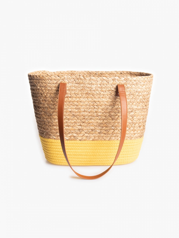 Slaměná plážová taška