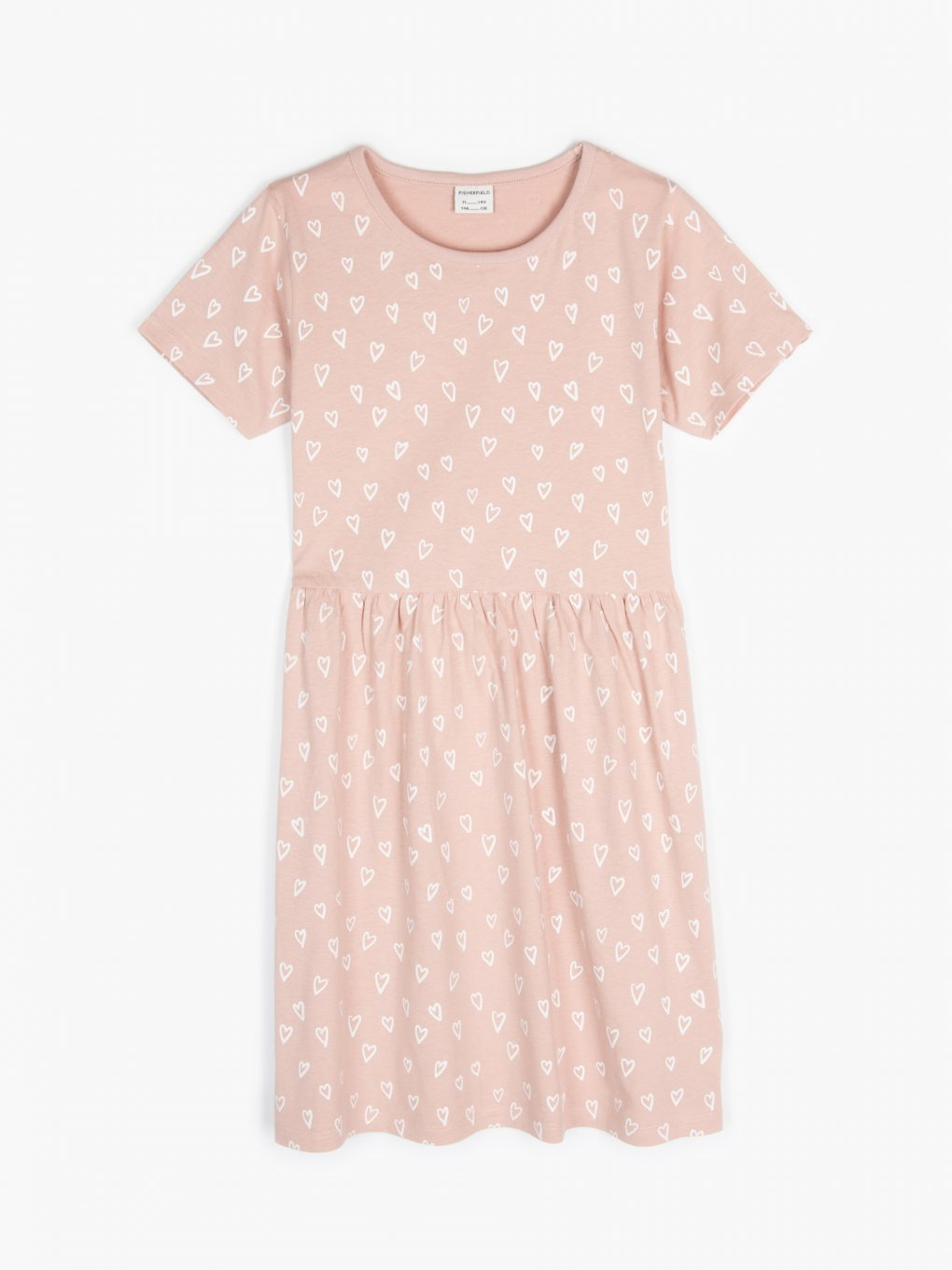 Hearts print cotton dress