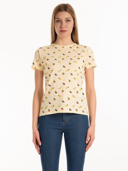 Bavlnené tričko s celopotlačou